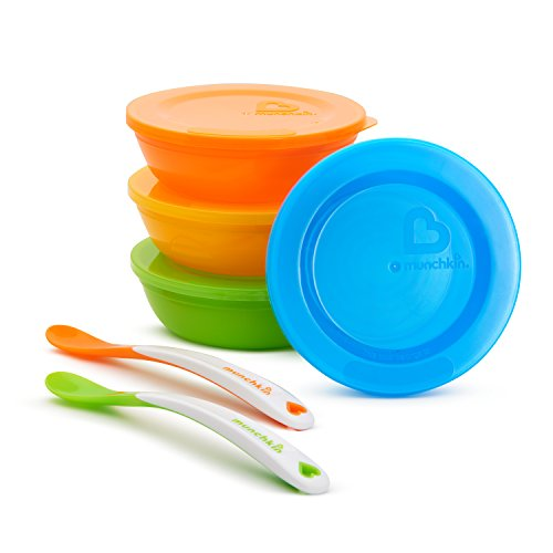 Munchkin Love-a-Bowls 10 Piece Feeding Set (Starter Spoon Sets)