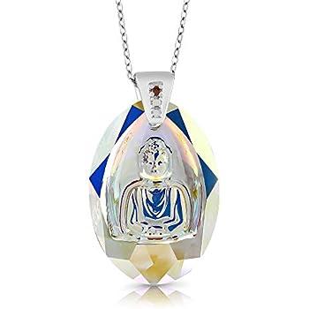 Amazon.com: Collar con colgante de flor de loto de Buda en ...