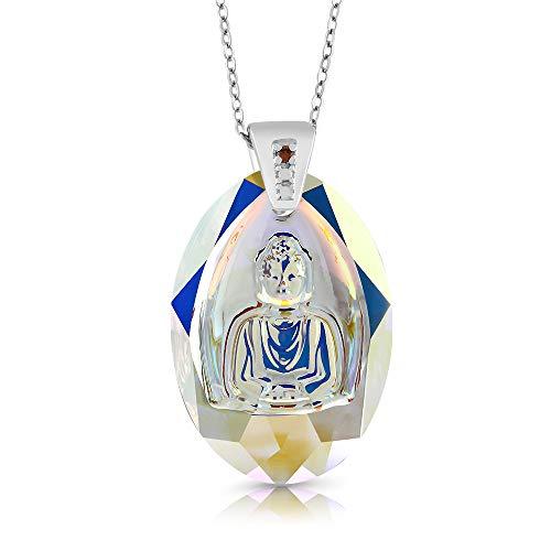 Nirano 925 Silver Buddha Charm Diamond Made with Swarovski Crystals
