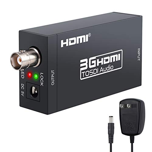 (LiNKFOR HDMI to SDI HDMI to SDI Converter HDMI to SDI HD Audio Video Converter HDMI to SDI Adapter SDI/HD-SDI/3G-SDI Adapter Support 1080P for Camera Home Theater)