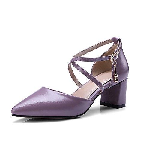 ASL04494 Urethane Toe Purple Womens Sandals Closed Huarache BalaMasa Sandals Hn7v01wT