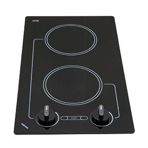 Kenyon B41692 6-1/2-Inch Caribbean 2-Burner Cooktop with Analog Control UL, 208-volt, Black