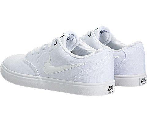 Nike Men's SB Check Solar Canvas Skate Shoe, Sneaker, White/White, 10 US M by Nike (Image #3)