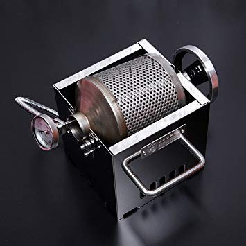 Burner Roaster - KALDI Mini Size (200~250g) Home Coffee Roaster Including Thermometer -Gas Burner Required (Manual with Sampler & Hopper)