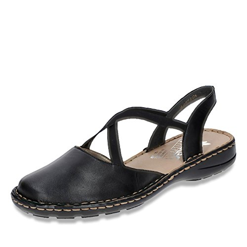 Rieker 64871-01 Womens Ballet Flats Sling Sandal Schwarz 1ZZ9Z