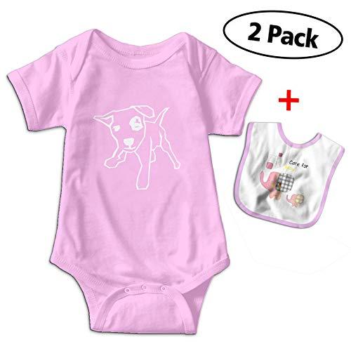 Love Taste Bull Dog Baby Bodysuits Short Sleeve Onesies Give Baby Bib Pink from Love Taste