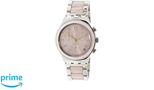 Amazon.com: SWATCH watches Irony Chrono DREAMNIGHT ROSE YCS588G watch: Watches