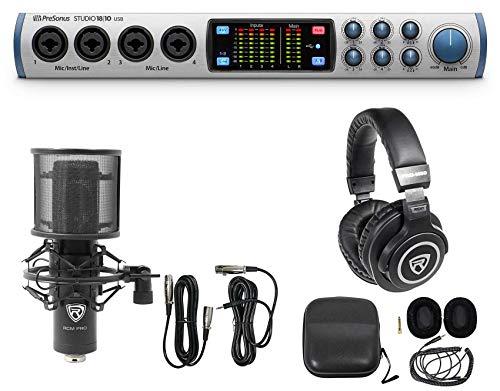Presonus Studio 1810 18x8 USB Audio Recording Interface+Microphone+Headphones