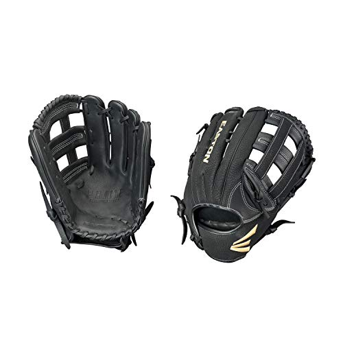 "Easton Prime Slow-Pitch Series Baseball Glove, Right Hand Throw, 13"", Black, H Web"