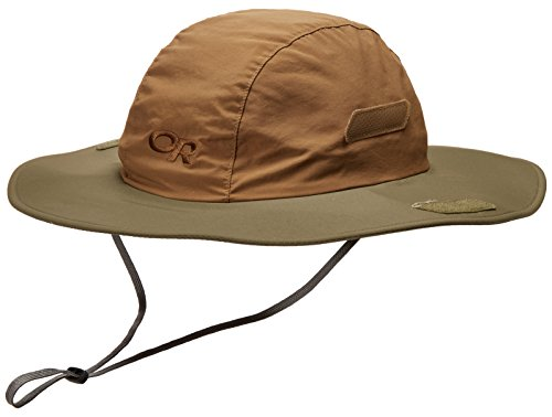 Outdoor Research Seattle Sun Sombrero Hat, Coyote/Fatigue, Small/Medium