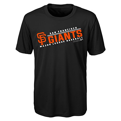 OuterStuff MLB Youth 8-20 SF Giants performance Short sleeve Tee, Xl(18), - Tee Giant Logo