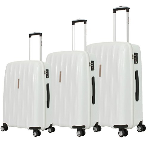 SwissGear Fashion Hardside Spinner 3 Piece Luggage Set White