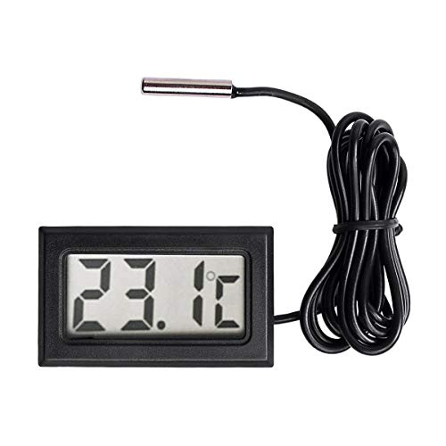SODIAL New Digital LCD Thermometer Temperature Gauge Probe Sensor -50°C to +110°C ()