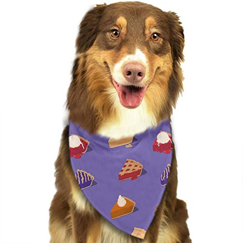 Pet Scarf Dog Bandana Bibs Triangle Head Scarfs Cakes Accessories for Cats Baby Puppy ()