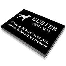 Custom Granite Personalized Engraved Memorial Pet Grave Marker 9x14x2