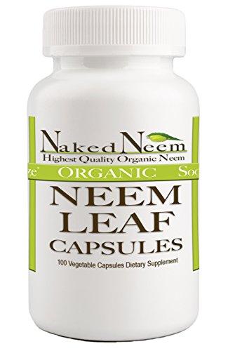 Organic Neem Leaf Capsules Usda Certified Organic  100 Capsules  Digestive Health Gut Health