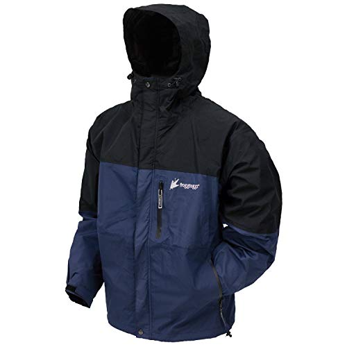 Frogg Toggs Toadz Toad Rage Rain Jacket, Dust Blue/Black, Size Small