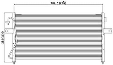 Partslink NI3030152|NI3030160 OE Replacement A//C Condenser NISSAN SENTRA 2002-2006