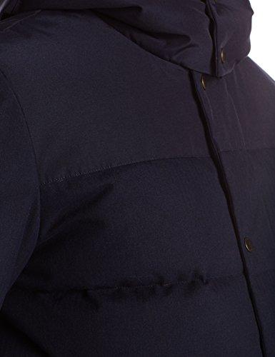 Ink Cole Brushed with Nylon Haan Contrast Details Navy Parka Men's Flannel 1qvBq