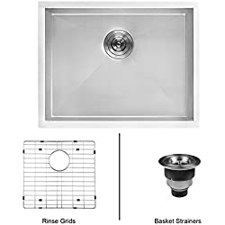 "Ruvati 23"" x 18"" x 12"" Deep Laundry Utility Sink Undermount 16 Gauge Stainless Steel - RVU6100"