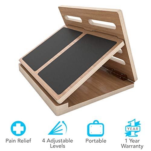 American Lifetime Adjustable Slant Board - Portable Wooden 4-Level Calf Stretcher for Pain and Tension Relief Exercise, Incline Wedge Stretch Your Calves Sports Injury & Rehab Prevention