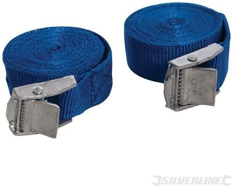 4 BLK//RED Cam Boucle Tie Down Solide sangles Toit Bagages Cargo 25 mm x 2.5 m long