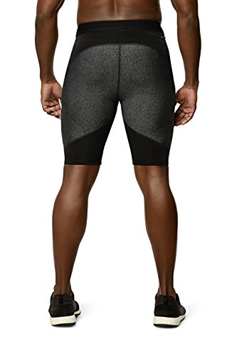 Physiclo-Pro-Resistance-Mens-Compression-Short-Training-Pants-with-Built-in-Resistance-Band-Technology-Grey-Black-X-Large