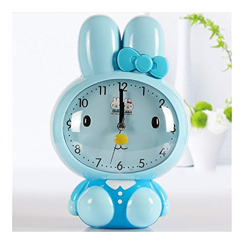 JQWGYNZ Alarm Clock Bedroom Student with Female Creative Mute Small Clock Intelligent Electronic Children's Bed Simple Charging Multifunction (Color : E)