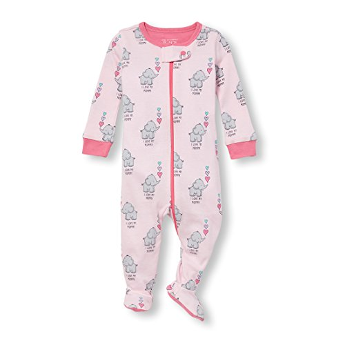 The Children's Place Baby Girls Animal Stretchie, Cameo, 12-18MOS by The Children's Place