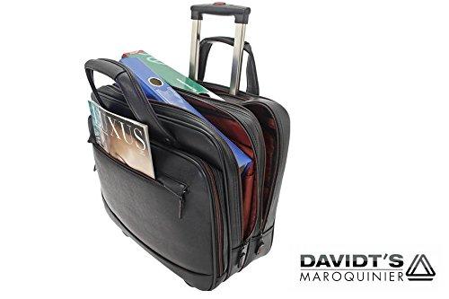 Business Trolley Laptop Tasche Pilotenkoffer Boardcase RAUMWUNDER Notebook Trolleytasche Bürotasche mit Laptopfach 15,4 Zoll Koffer Rollen Bord Gepäck