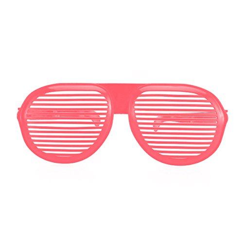 LUOEM Oversized Shutter Shading Glasses Sun Glasses for Costumes Cosplay Halloween Party Fun Photo Booth Props(Pink)