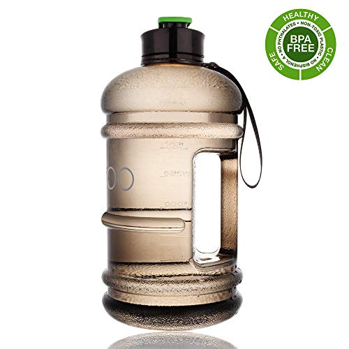 (2 Litre Water Bottle Big US Eastman Tritan BPA Free Leak Proof Wide Mouth Plastic Reusable Dishwasher Safe Drinking Gym Water Bottle for Sports Travel Camping Hiking Hydrate Large Water Jug with Spout)