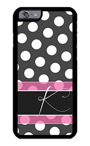 Custom Phone Cases for iPhone 6, iPhone 6S, iZERCASE [White Polka Dots Pink Line] Make Your Own Phone Case, Monogram Personalized Case - Cover Colorful Dots Polka