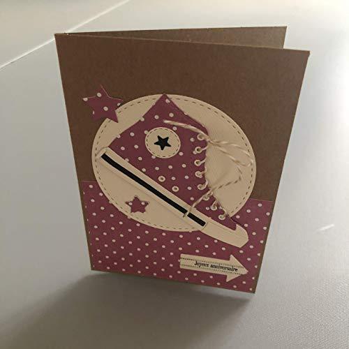 Kit Scrapbooking Carte D Anniversaire Converse 10 Cm X 15 Cm Amazon Fr Handmade