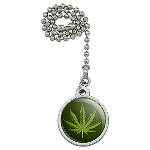 - GRAPHICS & MORE Marijuana Leaf Design Cannabis Pot Ceiling Fan and Light Pull Chain
