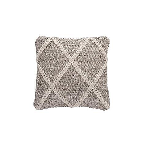 Cojín Quadrille lana Beige/Blanco 45 x 45 cm: Amazon.es: Hogar