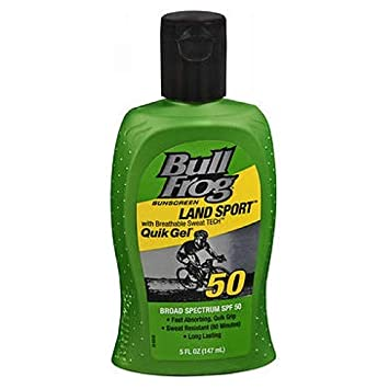 BullFrog Land Sport, Quik Gel Sunscreen SPF 50 5 oz Pack of 6