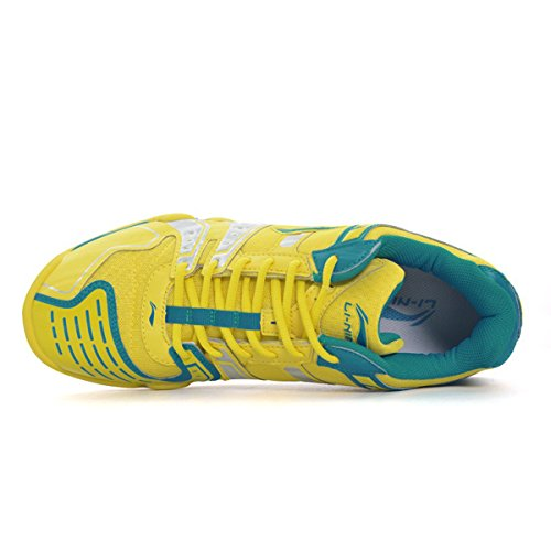 LI-NING Men's Saga TD Professional Badminton Sports Shoes Yellow/Blue/Silver discount Manchester from china cheap price cheap cost V6GXvqgGOz