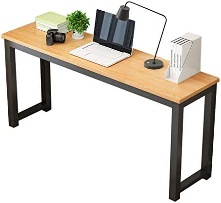 Simple Laptop Table Computer Desk, Chebo Modern Writing Study Table Home Office Desk Workstation Sturdy Small Desk for Students Bedroom -Ship from USA