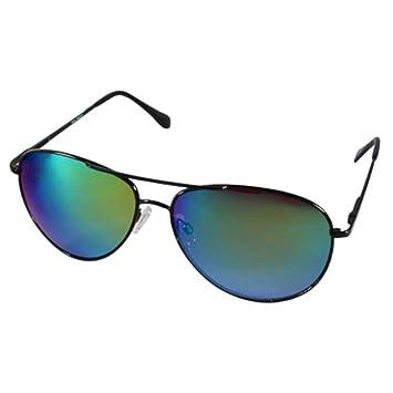 8cc961936e36fd Lunettes de soleil chic-Net lunettes de soleil aviateur bleu coloré lunettes  unisexes argent miroir