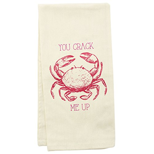- Wit Gifts WT102247 Tea Towel, Crab