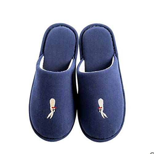 Étage 39 Blue Unisexe Accueil Chaussures Chaussons Plates 40 Chambre Intérieur Chaussons SHANGXIAN Blue Coton Hiver Chaud w7xqCtztO