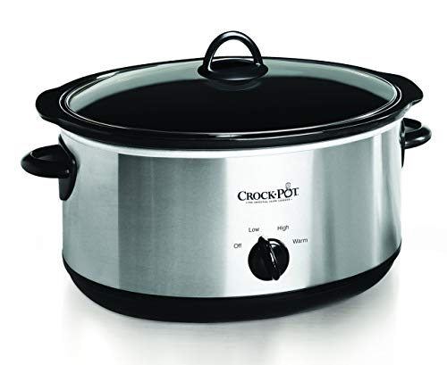 Crock-pot Oval Manual Slow Cooker, 8 quart, Stainless Steel (SCV800-S) (Certified Refurbished)