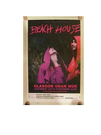 Beach House Poster Concert Gig November 2010 by Rhythm Hound