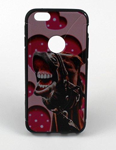 """Silikon Handy Back Case Cover Schale """"Pferd"""" für """"Apple Iphone 6"""" Schutz Hülle Tasche Bumper"""