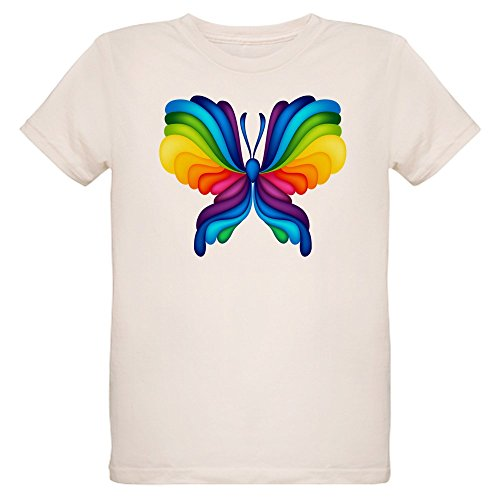 - Truly Teague Organic Kids T-Shirt Rainbow Butterfly - Small (8 Yrs)