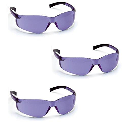 Tekz Pyramex Ztek Safety Glasses (3 Pair Pack) (Purple Haze S2565S)