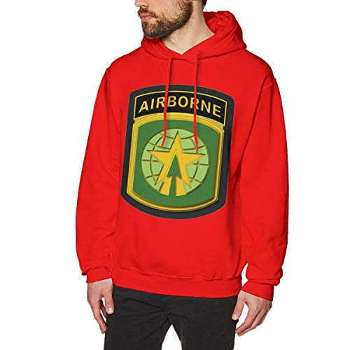 16th Mp BDE W Airborne Tab Men's Hooded Sweatshirt Red ()