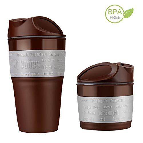 Coffee Mug Foldable,MZhou Collapsible Coffee Mug with Lid, C