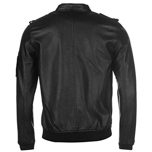 Firetrap Blackseal Bomber Veste pour homme Noir vestes manteaux Parka
